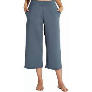 CALIA Womens Lumia Scuba Wide Ankle Cropped Pants